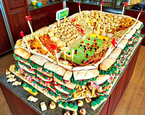 how much more food do americans eat on super bowl sunday stuarte