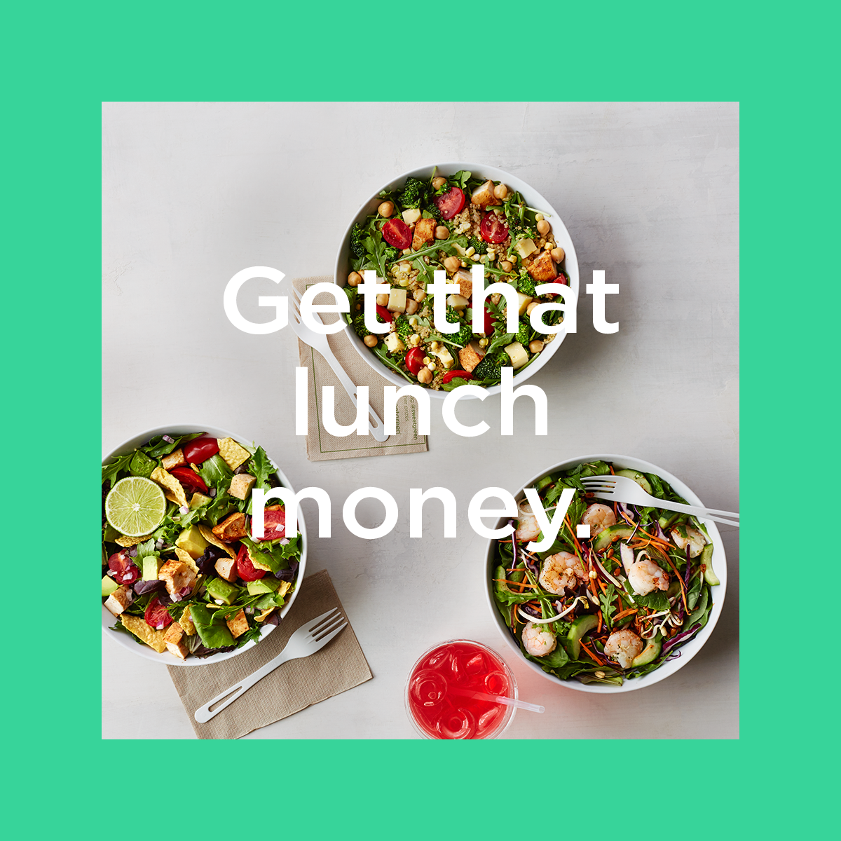 sweetgreen: Get that lunch money by referring friends
