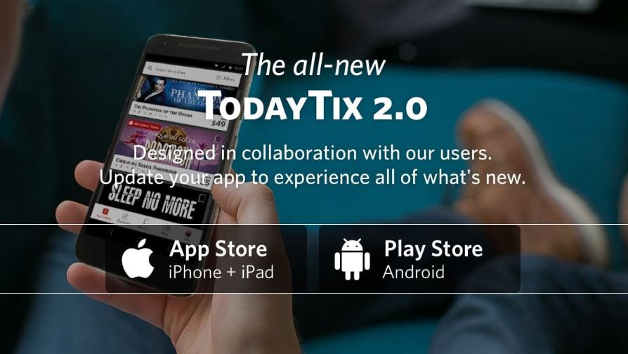 Redesigned TodayTix 2.0 app released today with new features