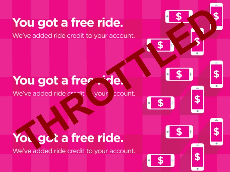Lyft is unfairly throttling referral credits in their rewards program