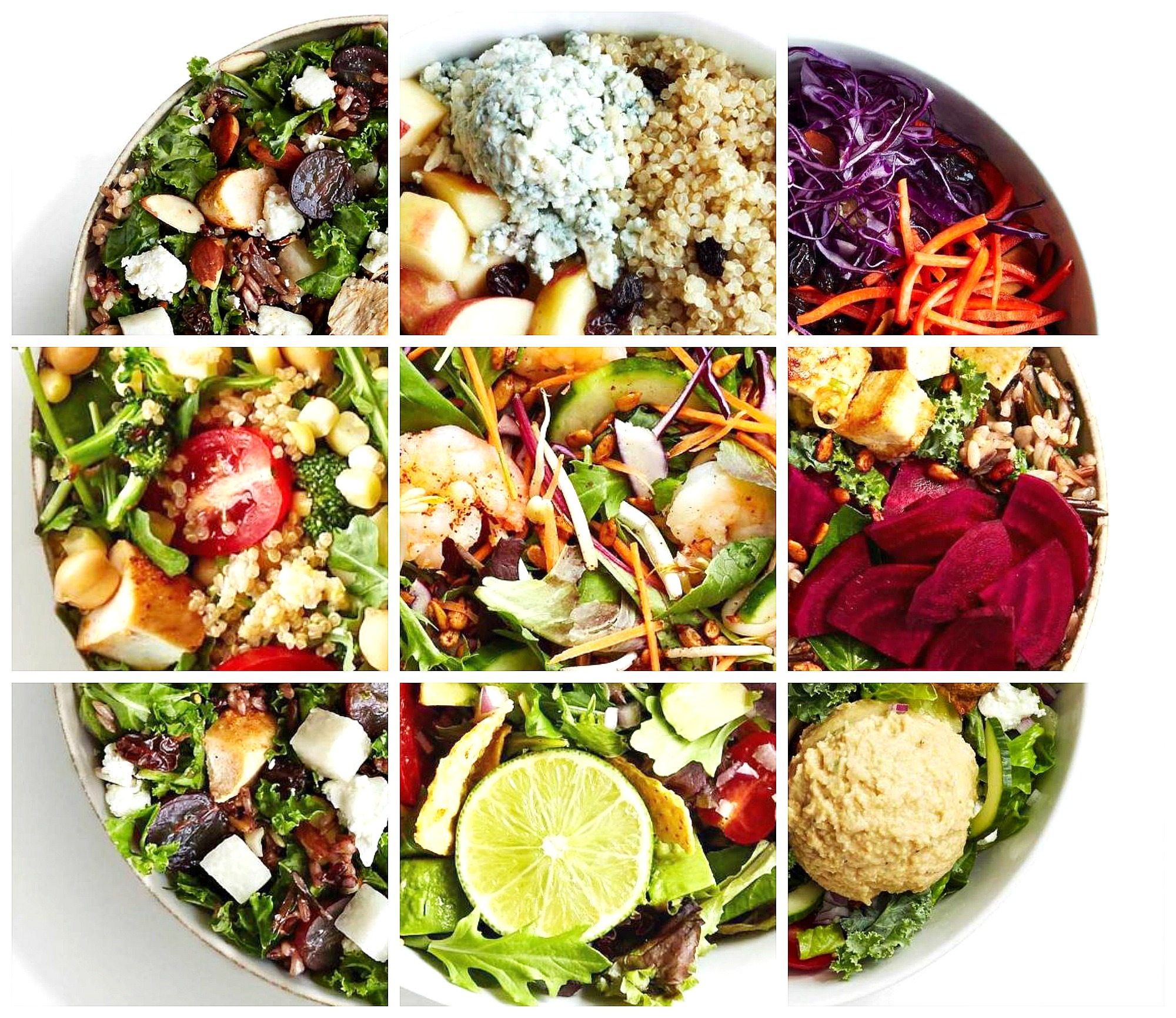 List of all 60+ sweetgreen's salads, warm bowls, and seasonal menu items