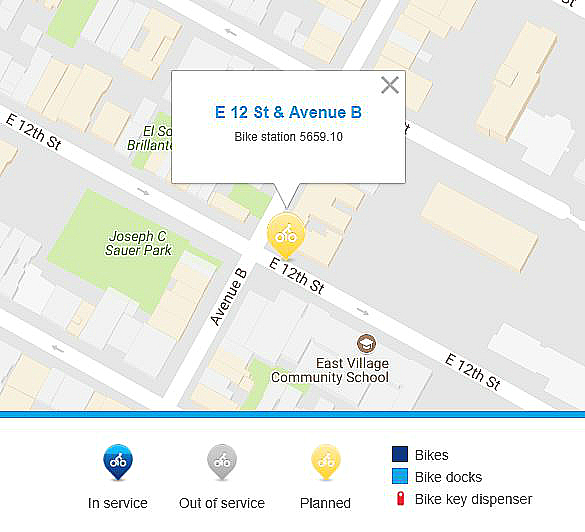 Citi Bike to add station to East 12th St. and Avenue B to alleviate demand in East Village