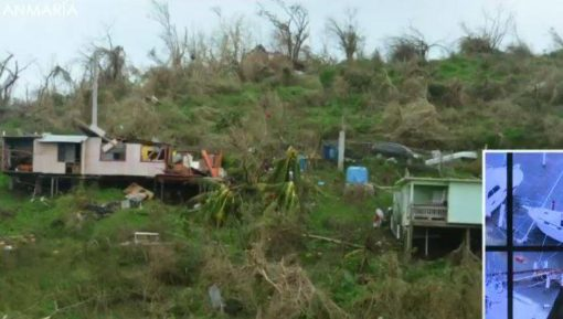 Hurricane Maria pictures of storm's damage to Vieques