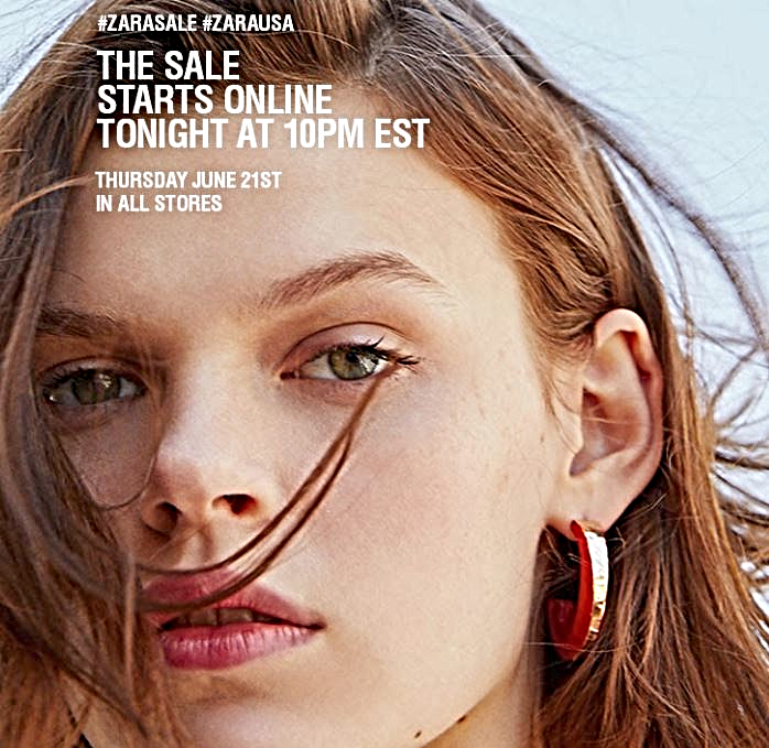 ZARA's online SALE starts tonight and in-store tomorrow! #zarasale