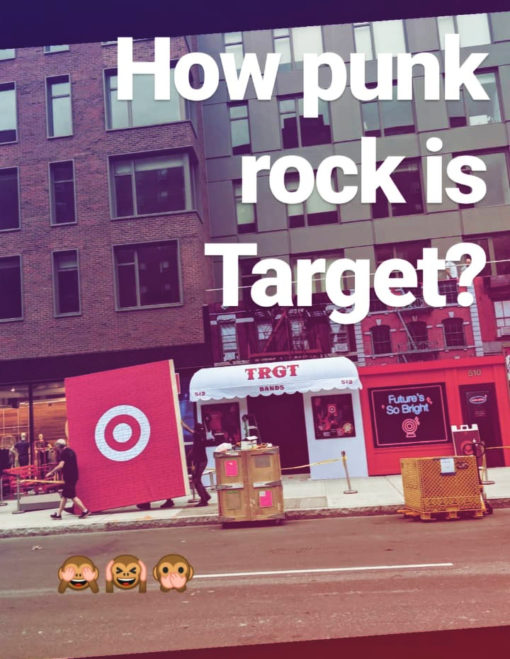 Just how punk rock is Target? As punk as their CBGB ...