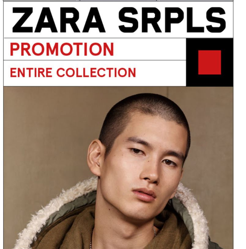 ZARA announces that their latest SRPLS collection is  on sale (2019)