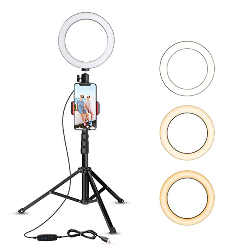 Review of UBeesize Selfie 8″ Ring Light with Tripod Stand & Cell Phone Holder