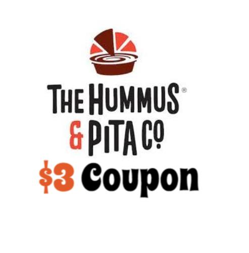 Hummus & Pita Co. Promo Code & Coupon is good for $3 off your entire order