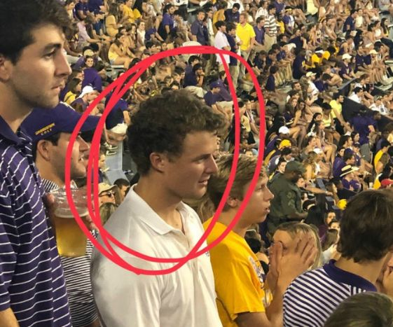"""Foxworth Vidrine is the racist student that repeatedly yelled """"Get the f*ck out Ching Chongs"""" at LSU football game"""