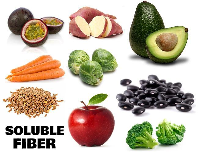 A list of the 15 best foods, fruits, veggies, beans and seeds that are high in soluble fiber