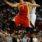 Jeremy Lin lays the ball up against Al Horford last night (Atlanta Hawks v Houston Rockets)